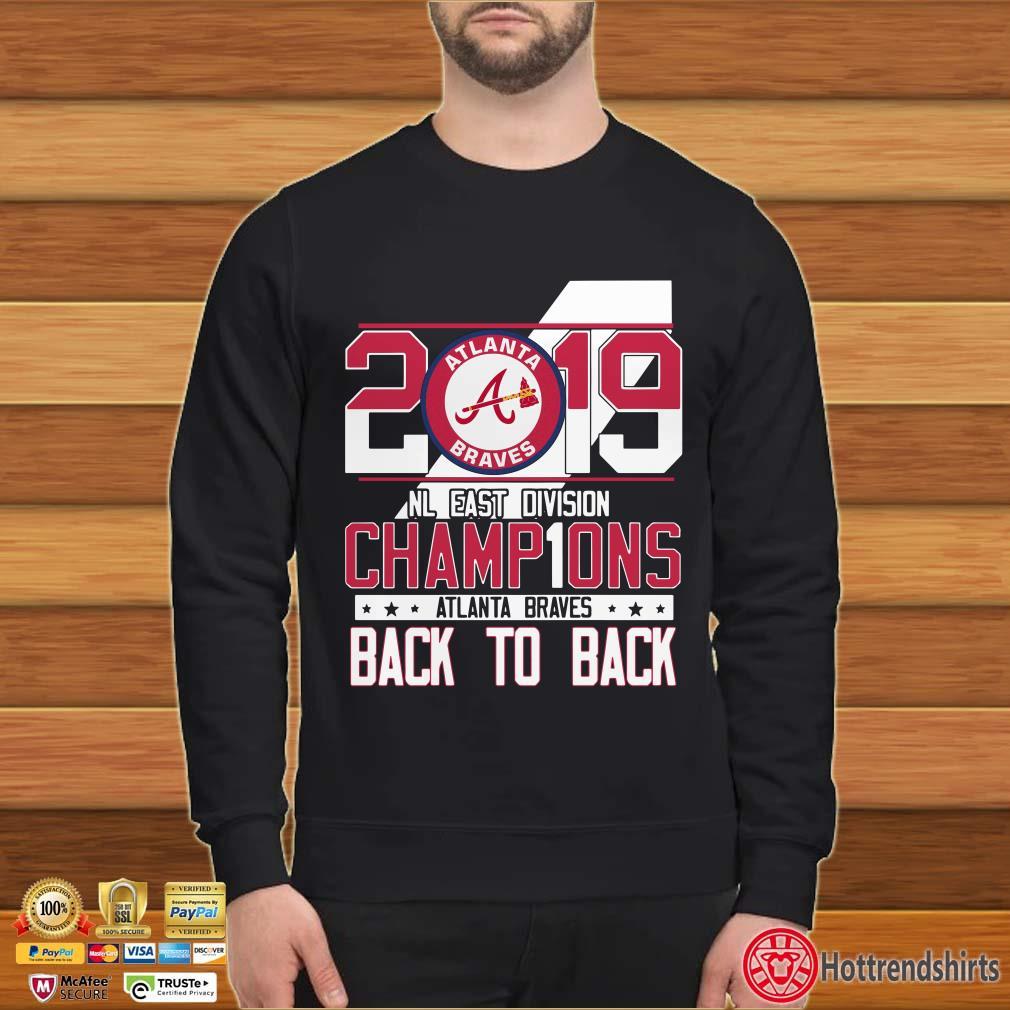 2019 Atlanta Braves Nl East Division Champions Back To Back Shirt
