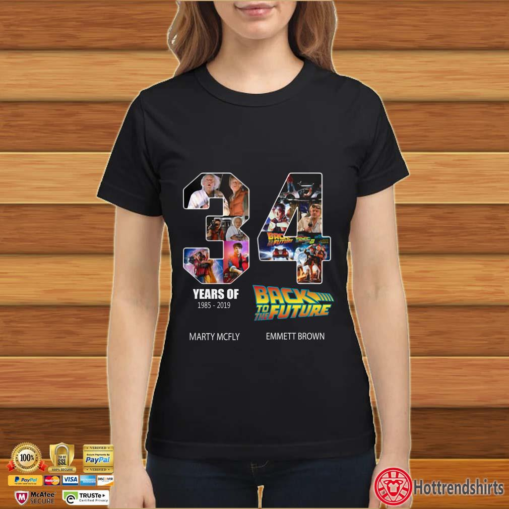 34 Years Of Back To The Future 1985-2019 Shirt
