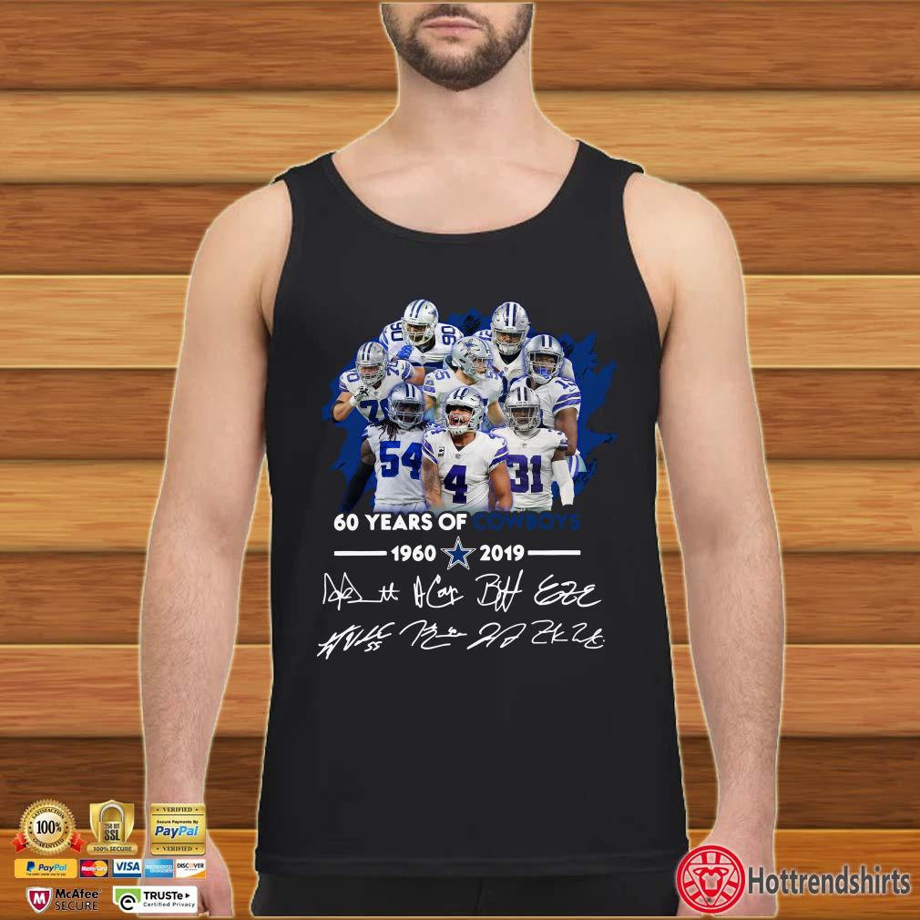 60 Years of Cowboys 1960 2019 signature shirt