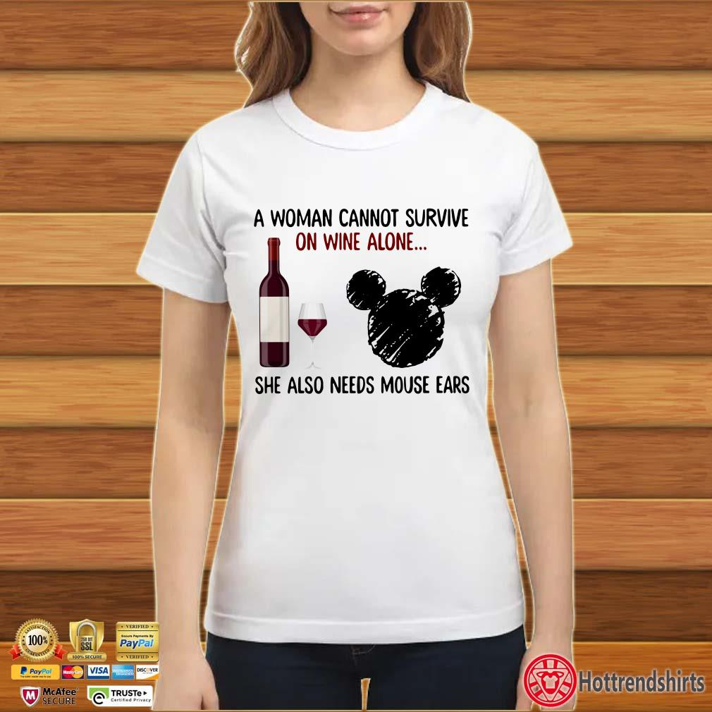 A Woman Cannot Survive On Wine Alone She Also Needs Skiing Shirt