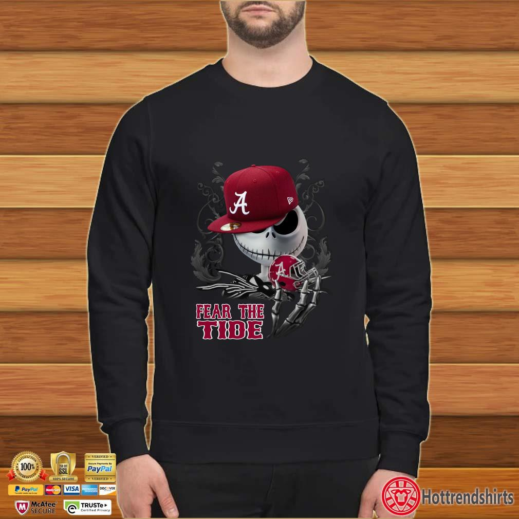 Alabama Crimson Tide Jack Skellington Fear The Tide Shirt