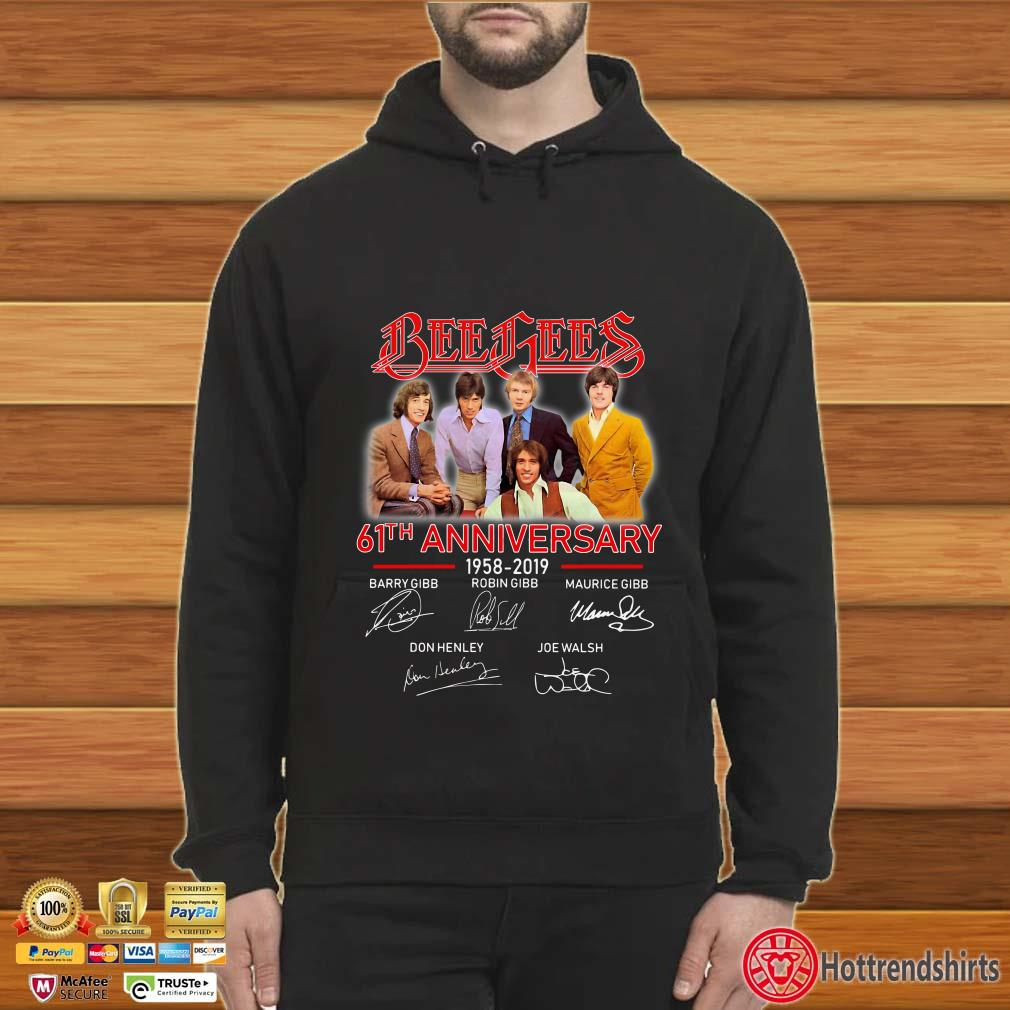 Bee Gees 61th Anniversary 1958 2019 signatures shirt