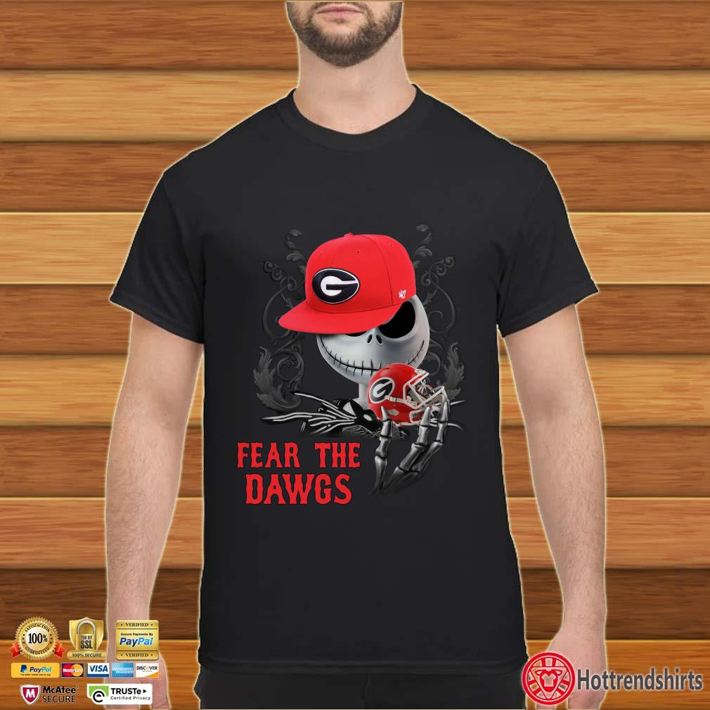 Jack Skellington Fear the Georgia Bulldogs Dawgs shirt