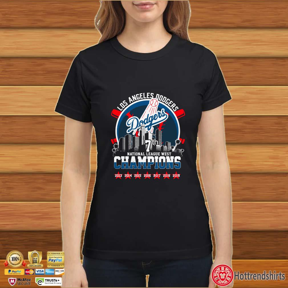 Los Angeles Dodgers National League West Champions 2013 2019 Shirt