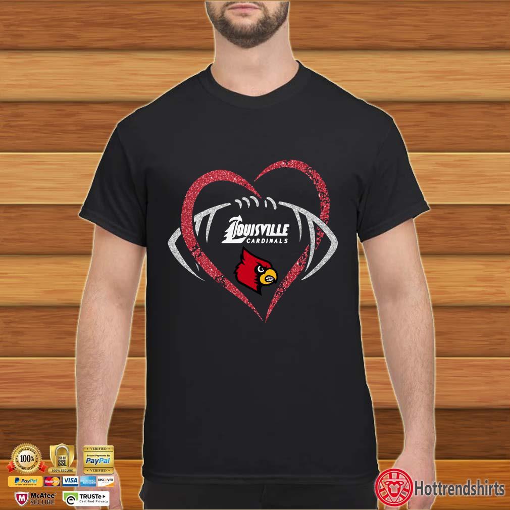 Louisville cardinals Diamond Heart Rugby shirt