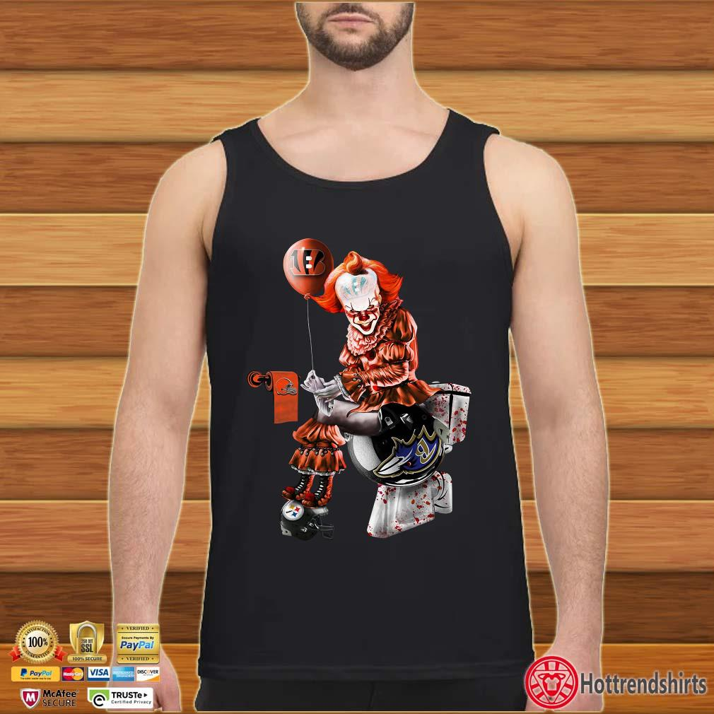 Pennywise Cincinnati Bengals, Cleveland Browns, Pittsburgh Steelers and Baltimore Ravens toilet shirt