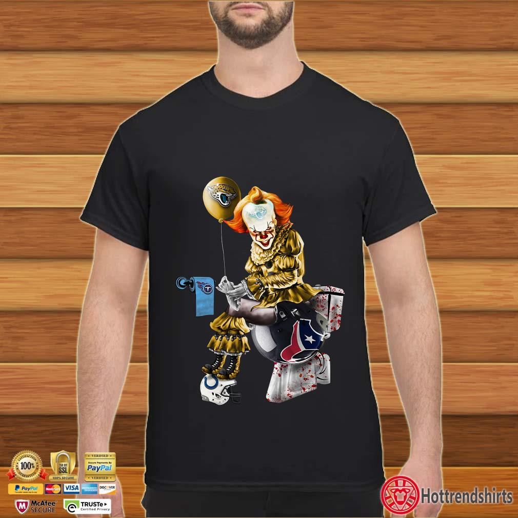Pennywise Jacksonville Jaguars, Tennessee Titans, Indianapolis Colts and Houston Texans toilet shirt