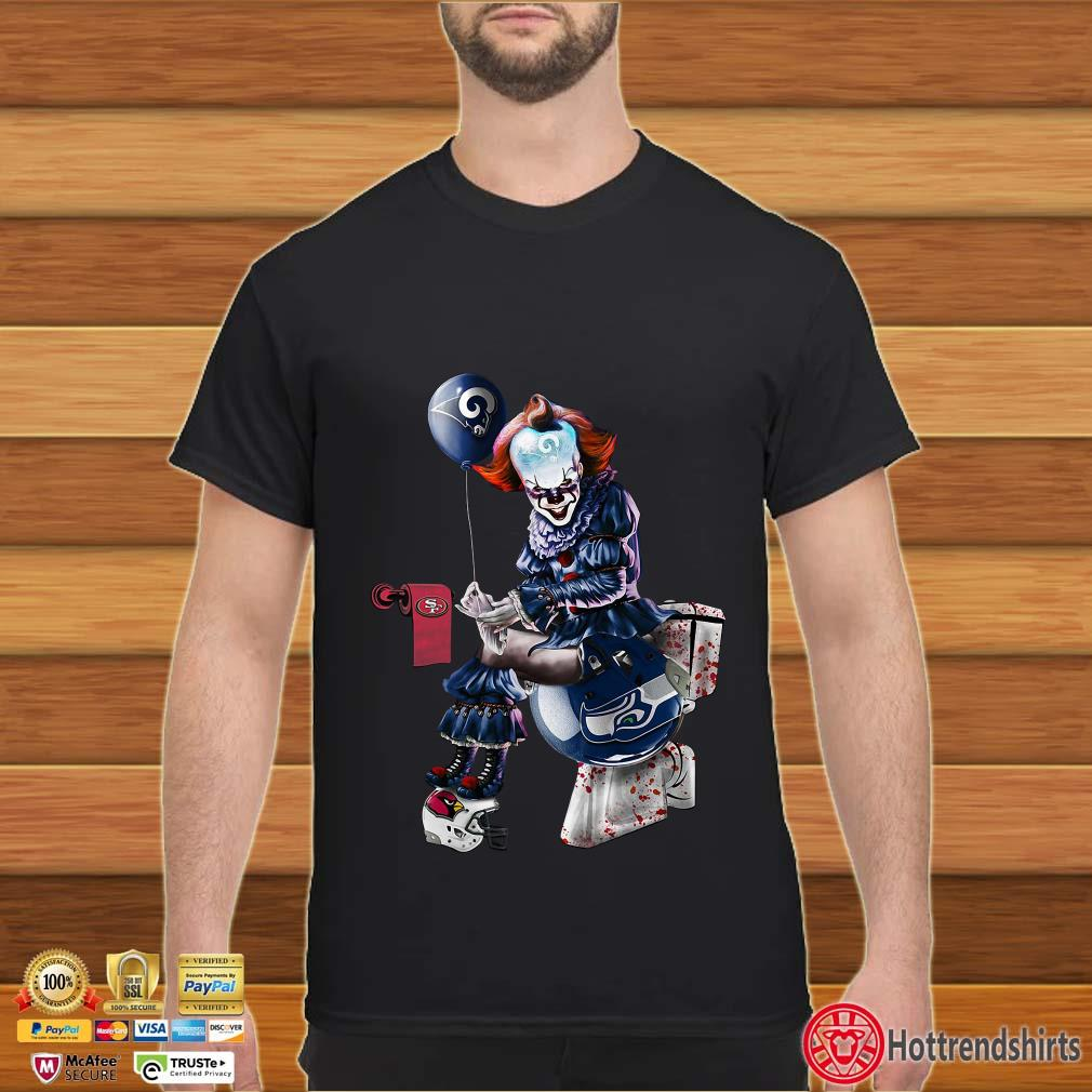 Pennywise Los Angeles Rams, San Francisco 49ers, Arizona Cardinals and Seattle Seahawks toilet shirt