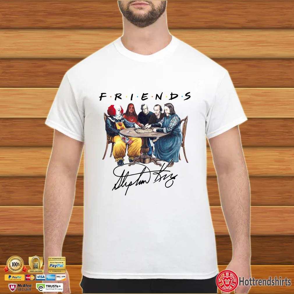 Friends Stephen King Pennywise IT signature shirt