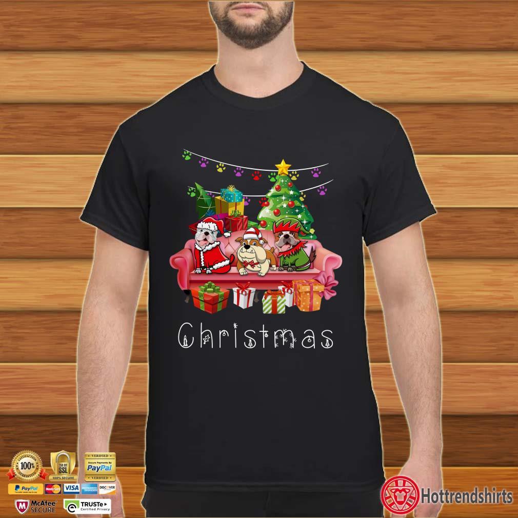 Bulldog Christmas Sofa Shirt