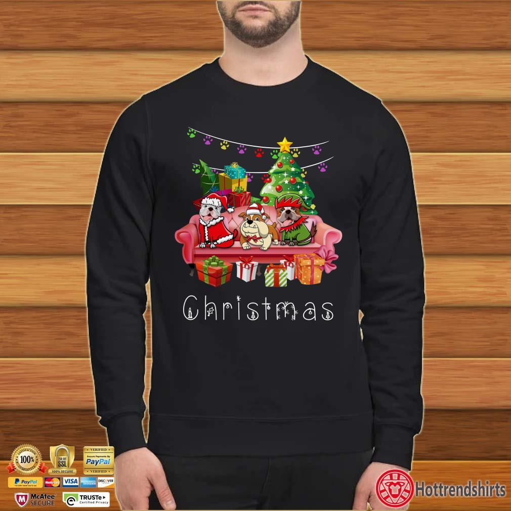 Bulldog Christmas Sofa Shirt
