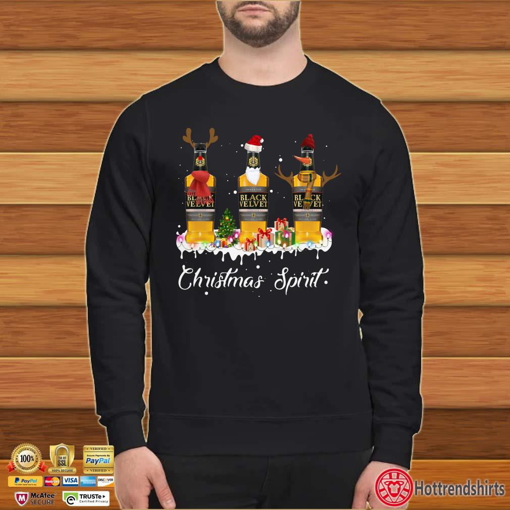 Christmas Spirit Black Velvet Canadian Whisky 2020 Shirt