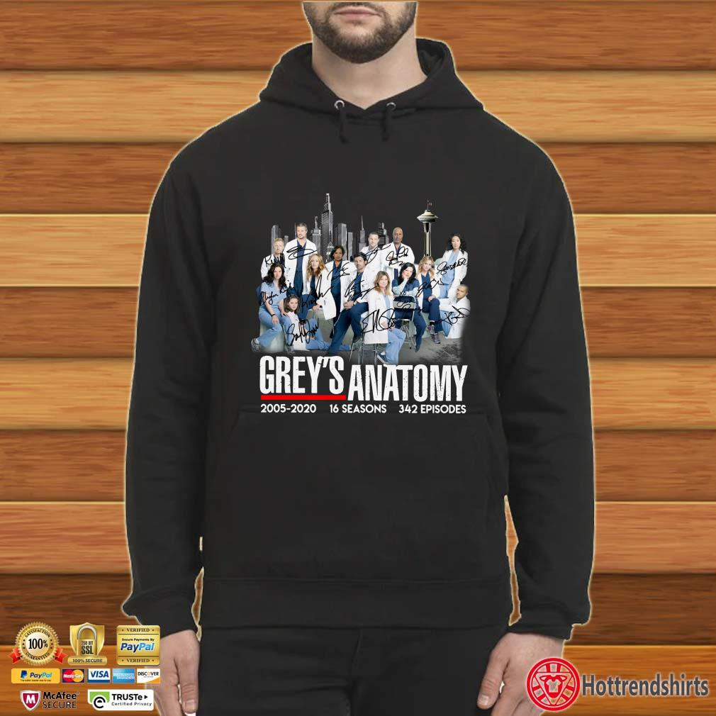 Grey's Anatomy 2005 2020 16 seasons 342 episodes signatures shirt