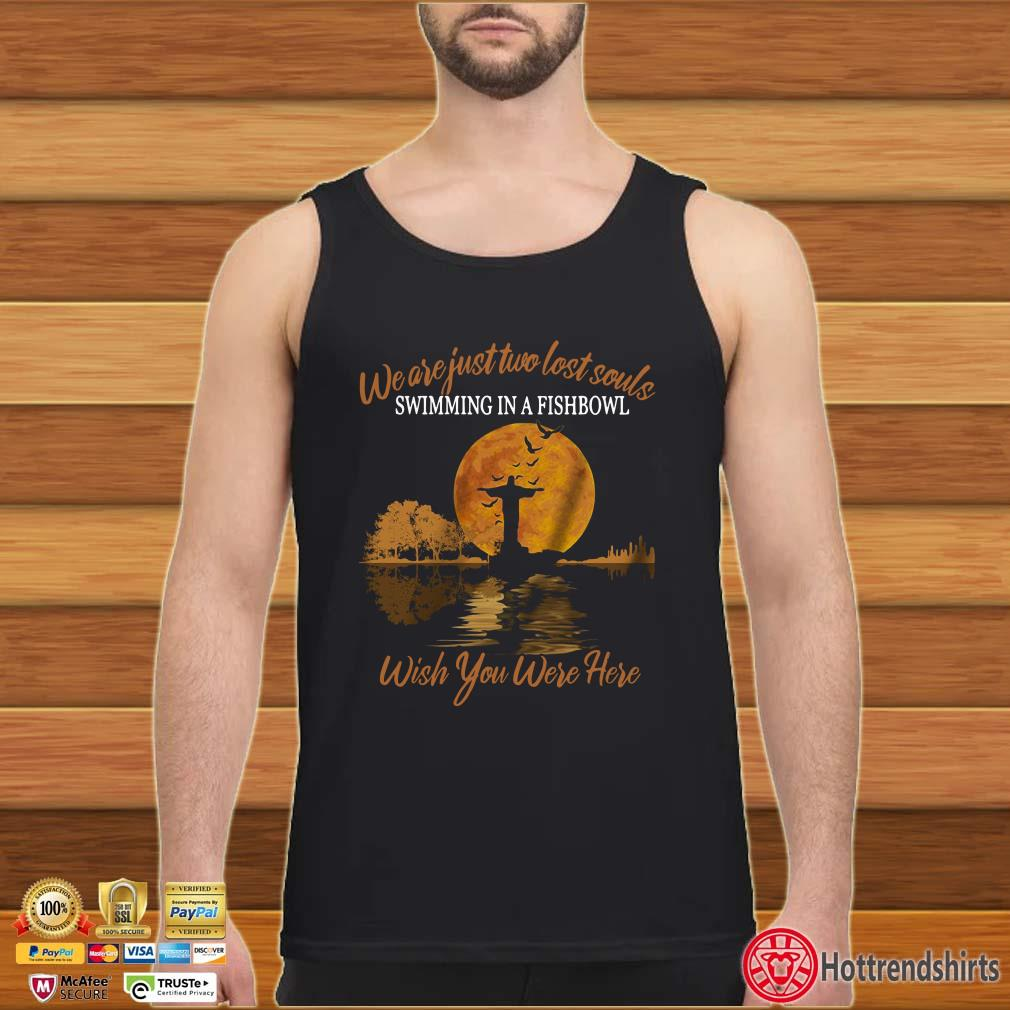 Guitar Jesus We are just two lost souls swimming in a fishbowl wish you were here Halloween shirt