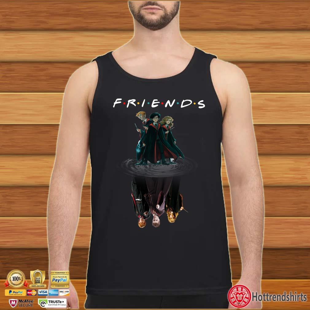 Harry Potter Hermione Granger and Ron Weasley chibi water mirror reflection friends shirt