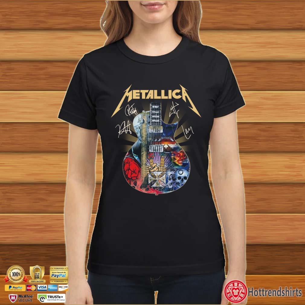 Metallica Guitar Signatures Shirt