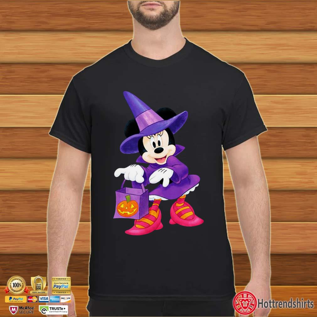 Nice Disney Halloween Minnie Mouse Trick or Treating shirt