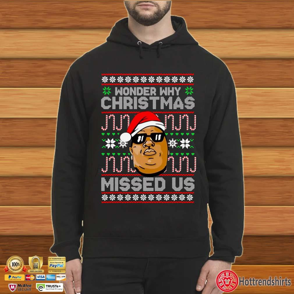 Notorious Wonder my Christmas Missed us ugly Sweater