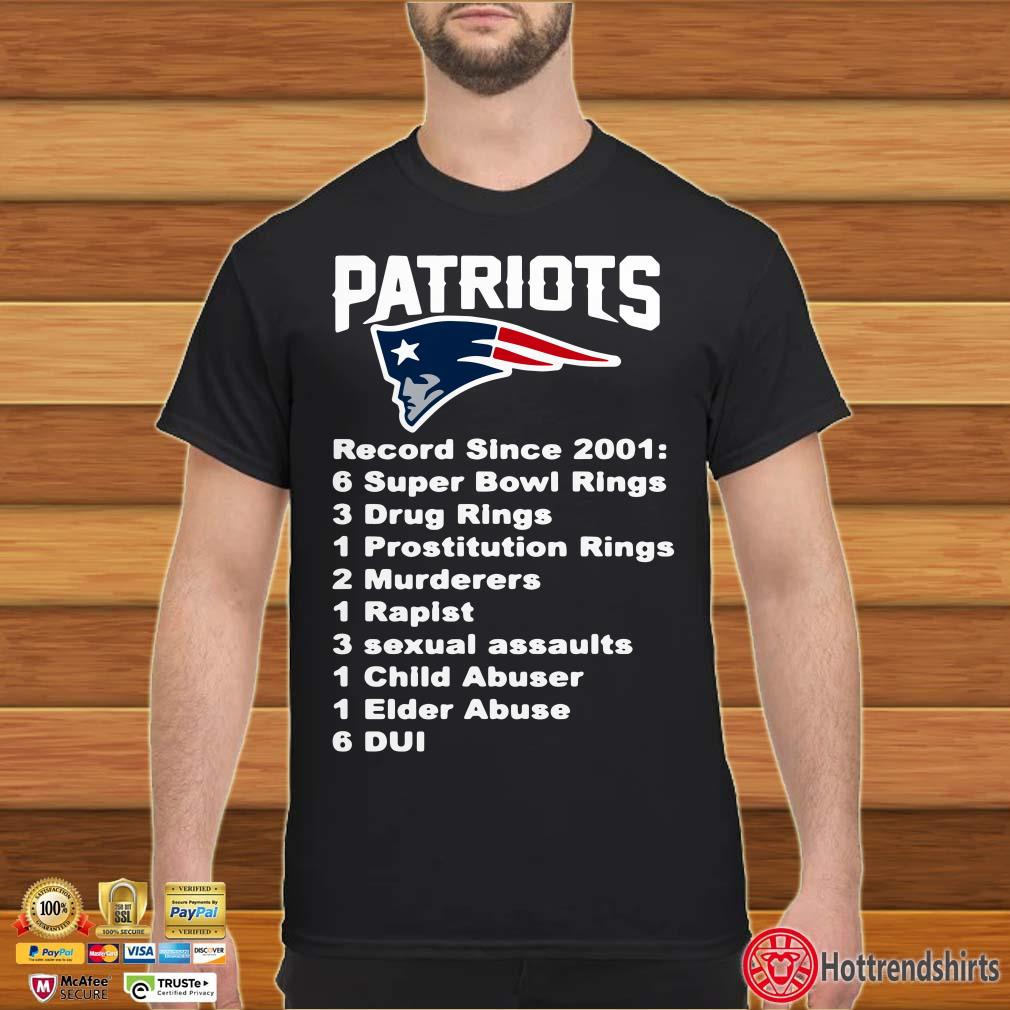 Patriots Record since 2001 6 Super Bowl Rings Shirt