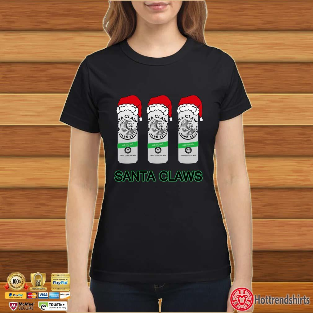 Santa Claws White Claw Christmas Shirt