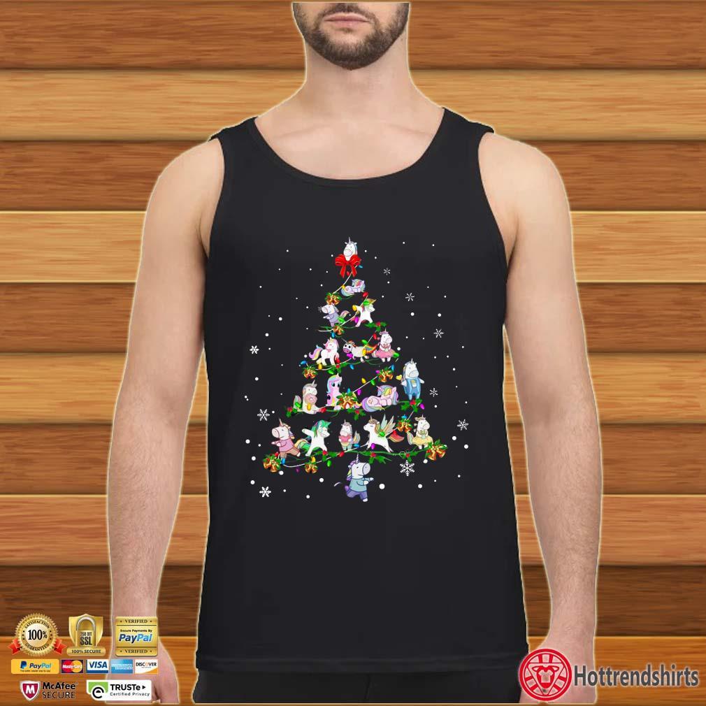Unicorn Christmas Tree Sweatshirt