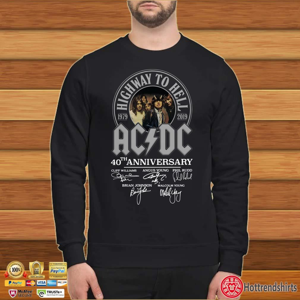 Ac Dc Highway To Hell 40th Anniversary 1979 2019 Signatures Shirt
