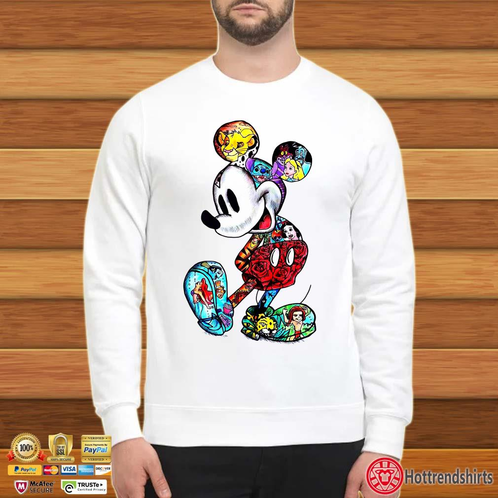 All Cartoon Disney Characters In Mickey Mouse Shirt
