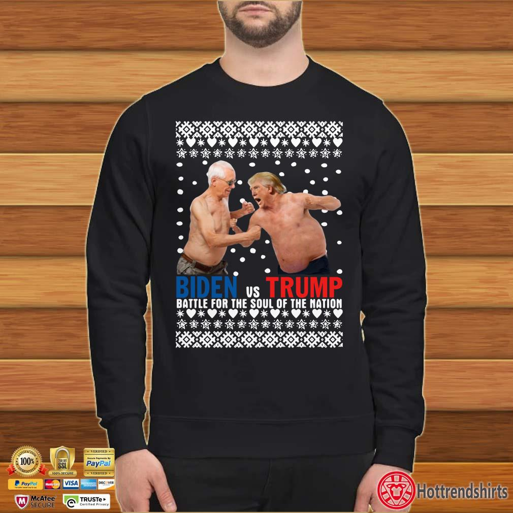 Biden vs Trump Battle For The Soul Of The Nation Ugly Christmas shirt