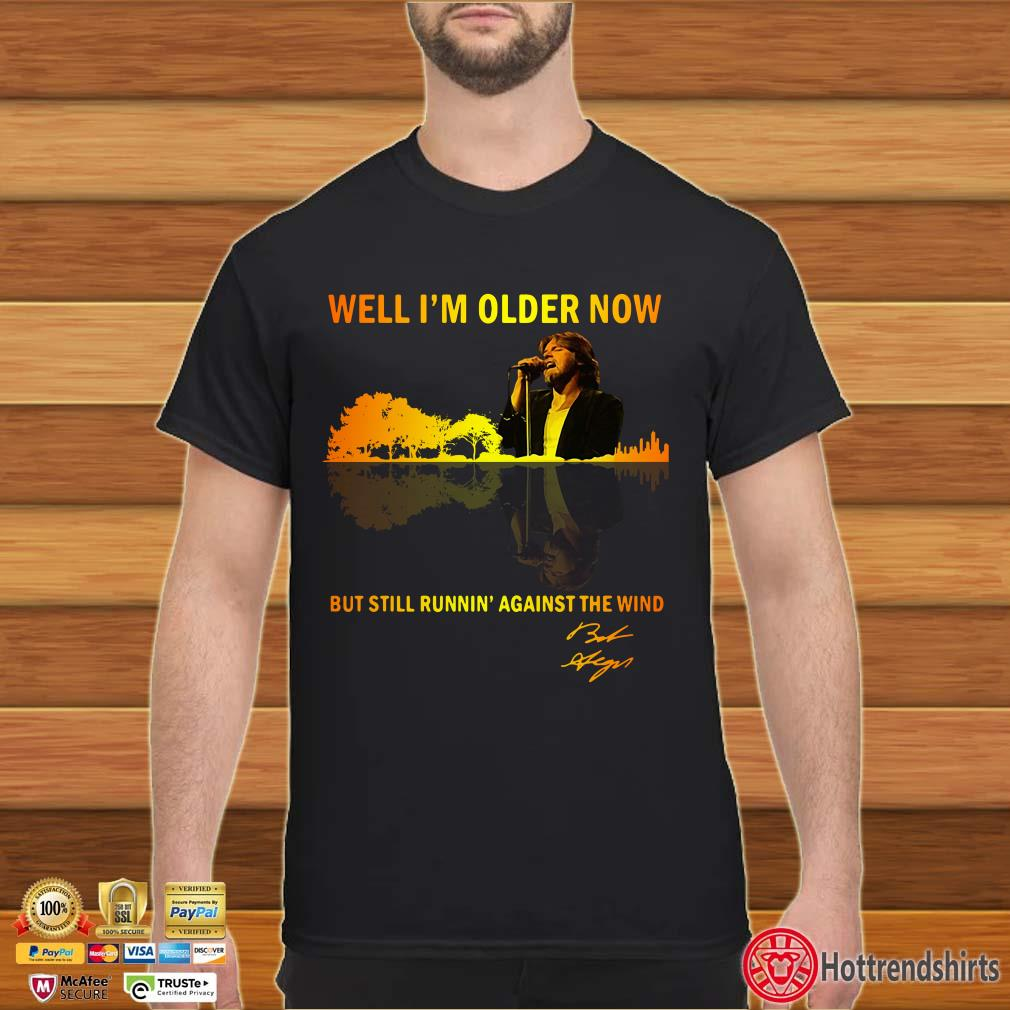 Bob Seger Guitar Lake well I'm older now but still running' against the wind signature shirt