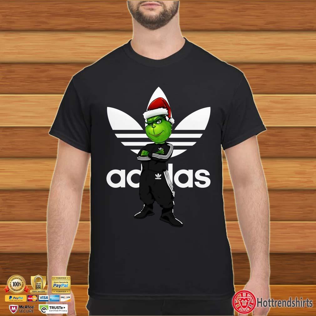 Christmas Santa Grinch Adidas Shirt