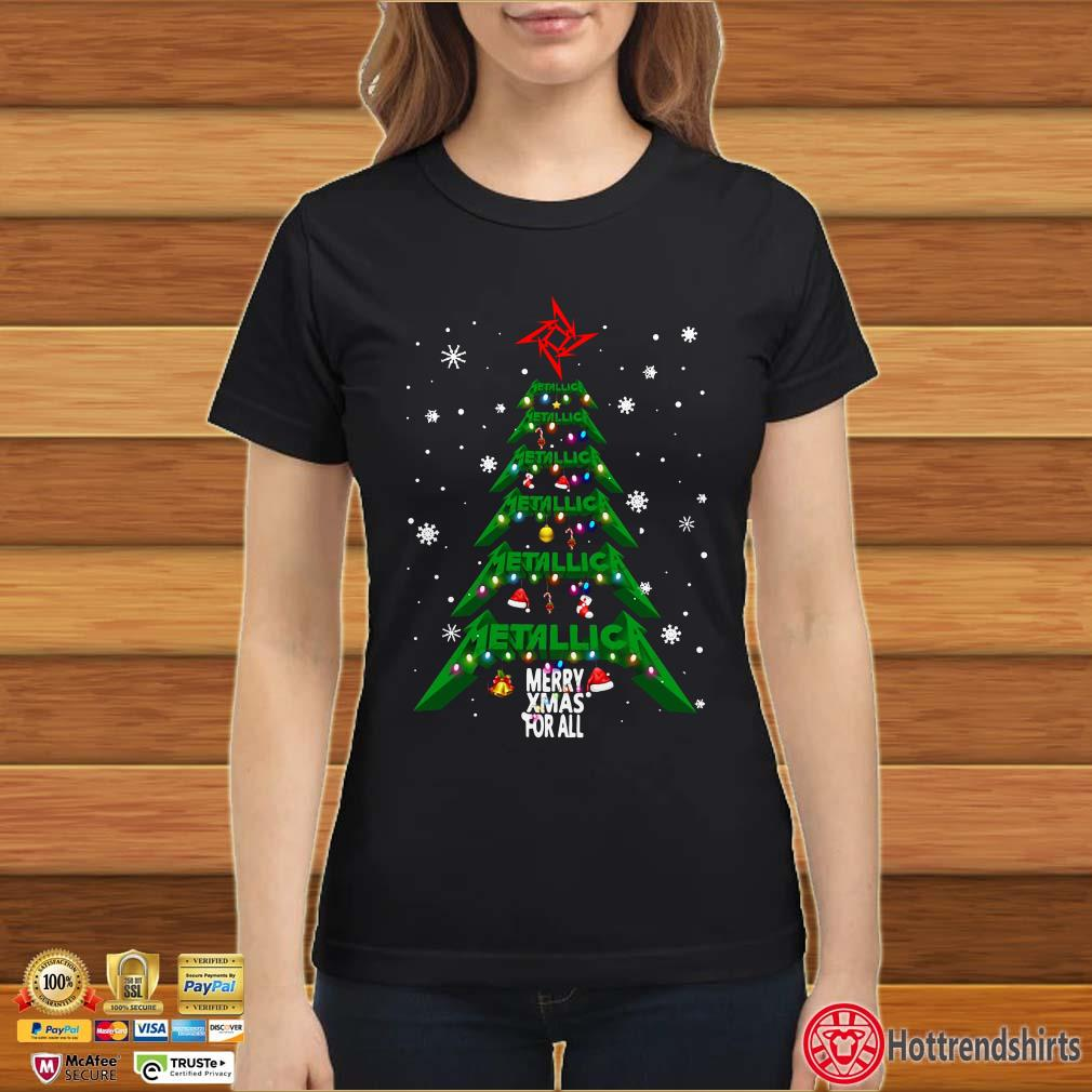 Christmas Tree Metallica merry Xmas For All Shirt