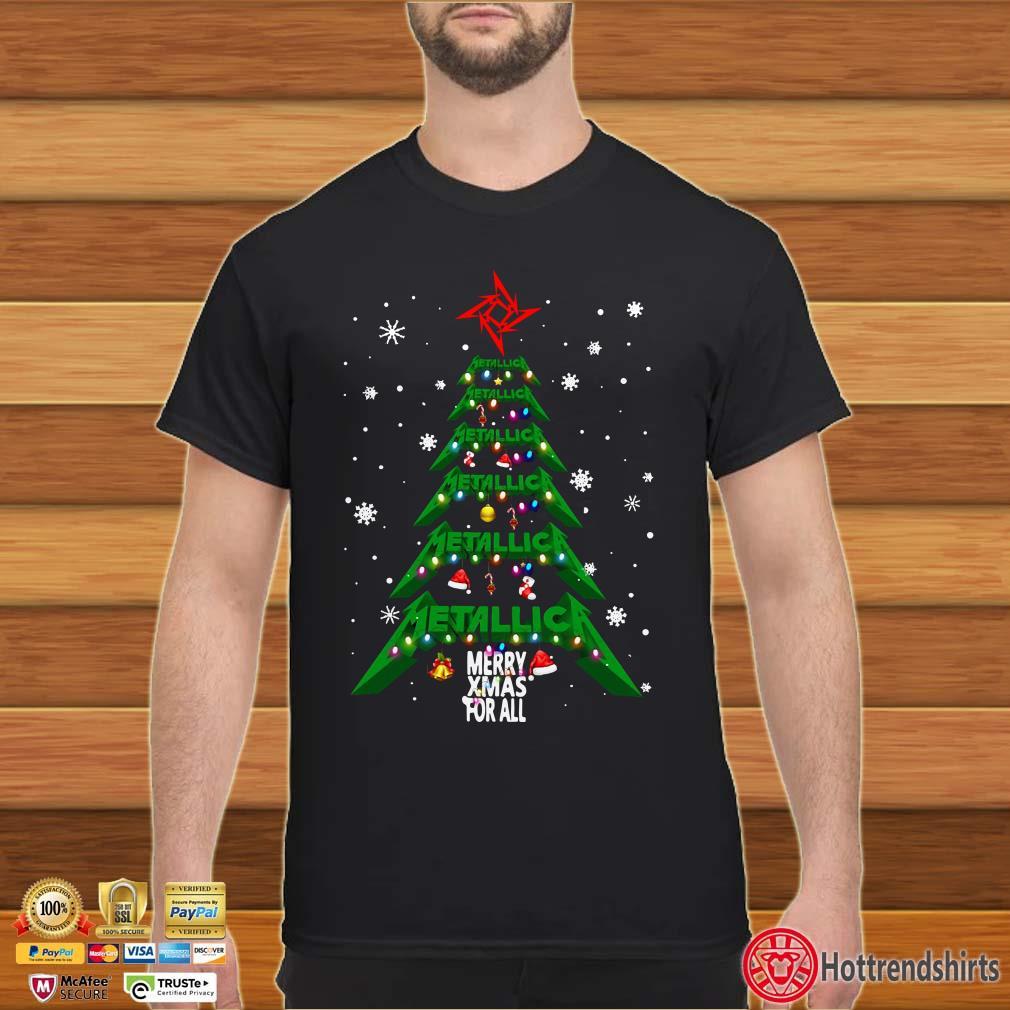 Christmas Tree Metallica merry Xmas For All Shirt