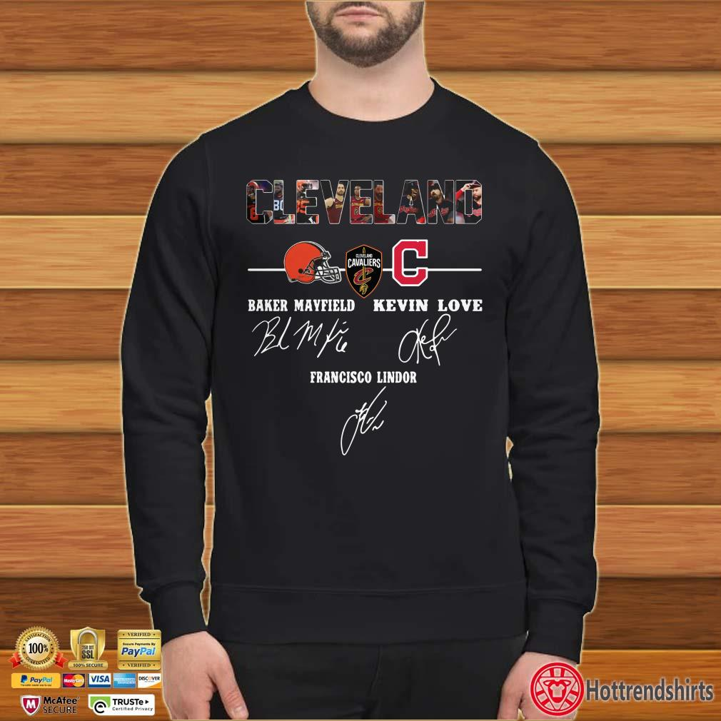 Cleveland Cavaliers Baker Mayfield Kevin Love Signature Shirt