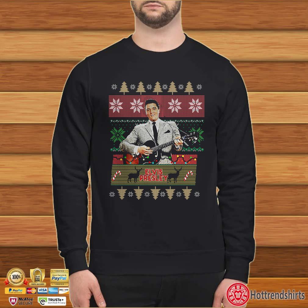 Elvis Presley Knitting Pattern Ugly Christmas Shirt