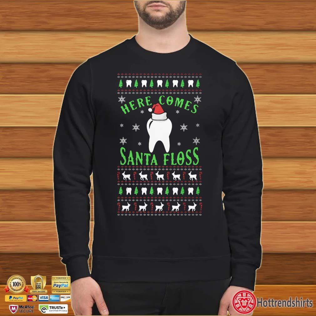 Here Comes Santa Floss Ugly Christmas Shirt
