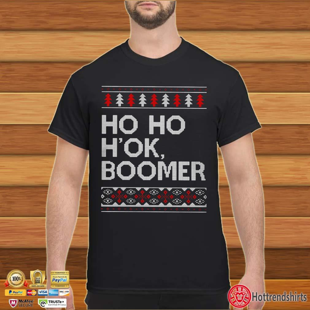 Ho Ho H'ok Boomer Ugly Christmas Shirt