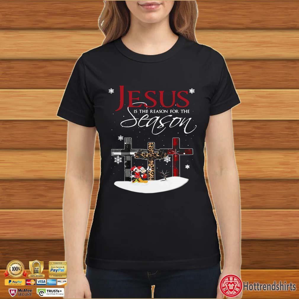 Jesus Is The Reason For The Season Christmas Cross Mickey Mouse Shirt