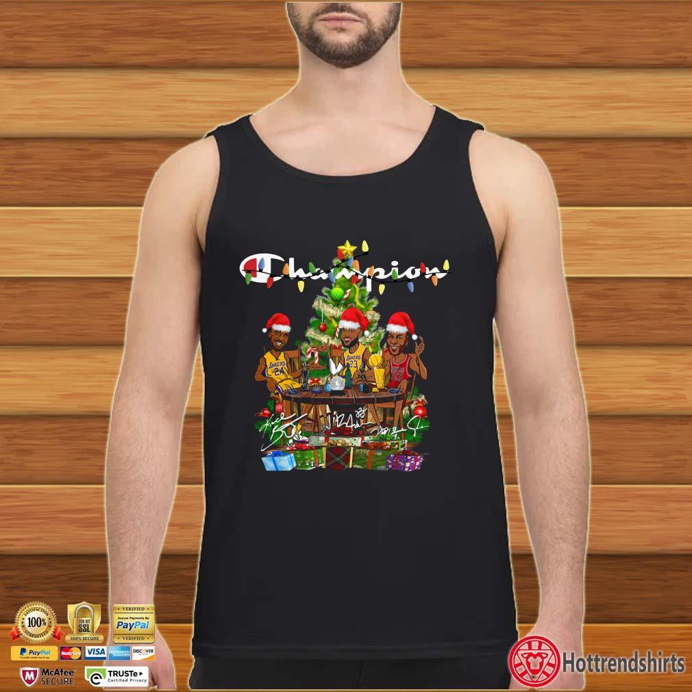 Lebron James Kobe Bryant Michael Jordan Champion Christmas Party Shirt