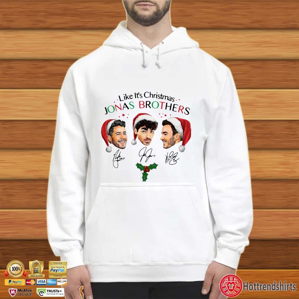 Like it's Christmas Santa Jonas Brothers Signatures shirt