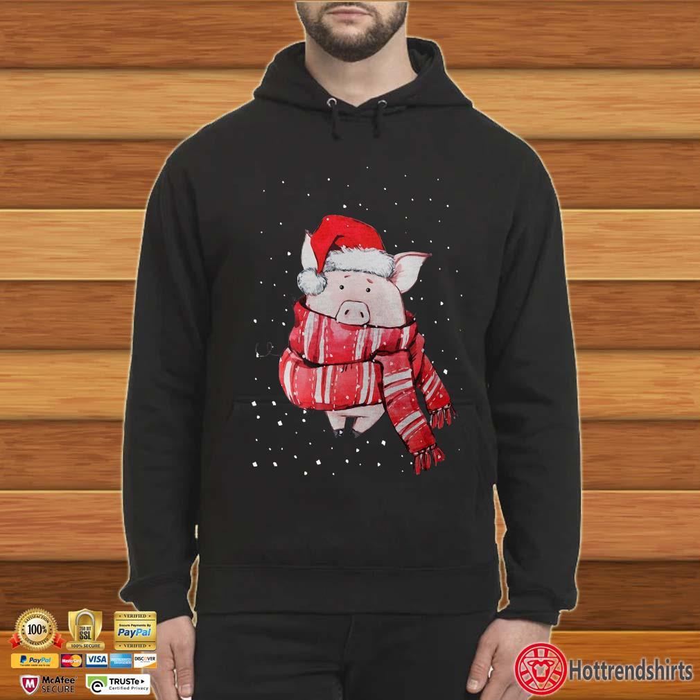 Pig Scarf Santa Christmas Shirt
