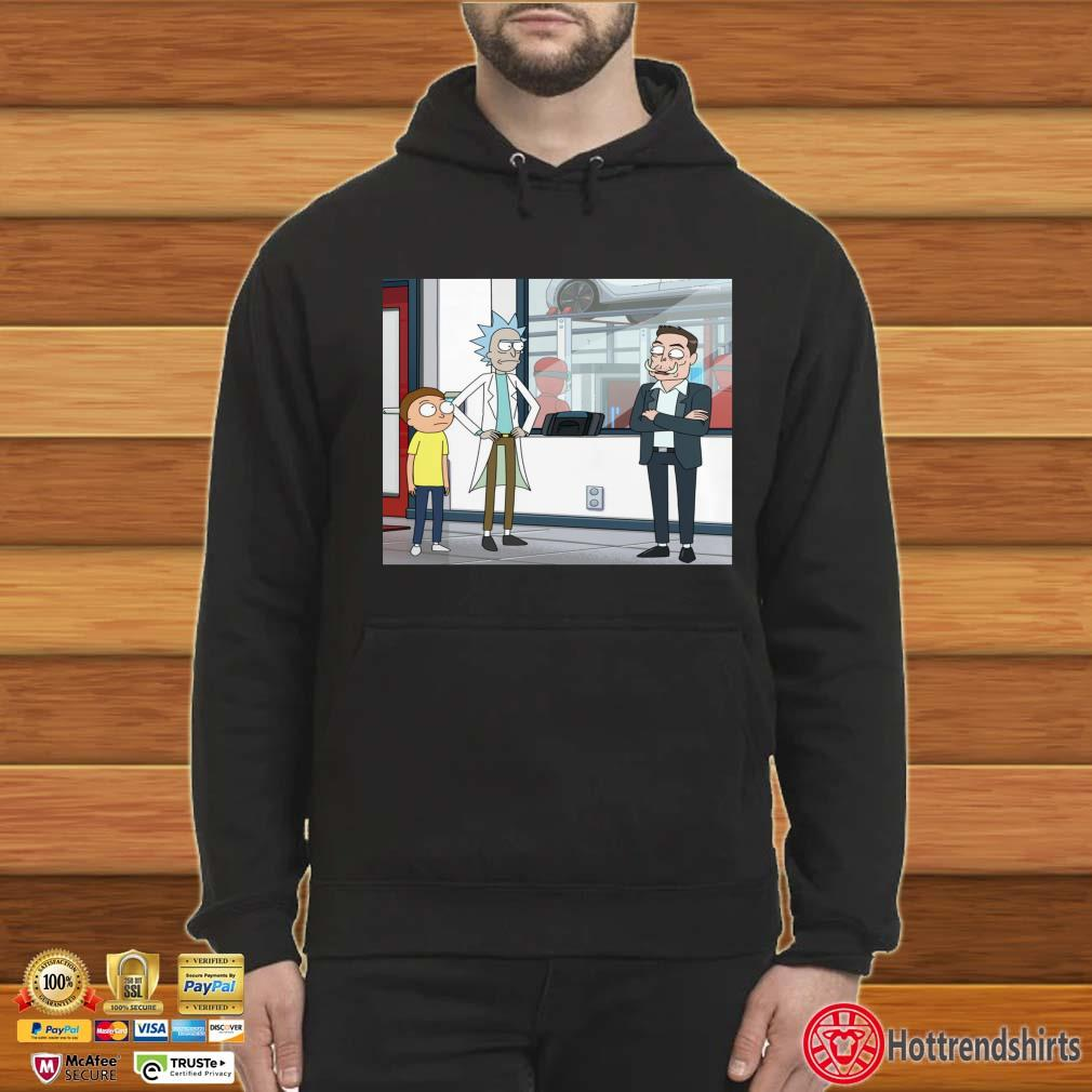Rick and Morty And Elon Musk Let's Talk Over Here Shirt