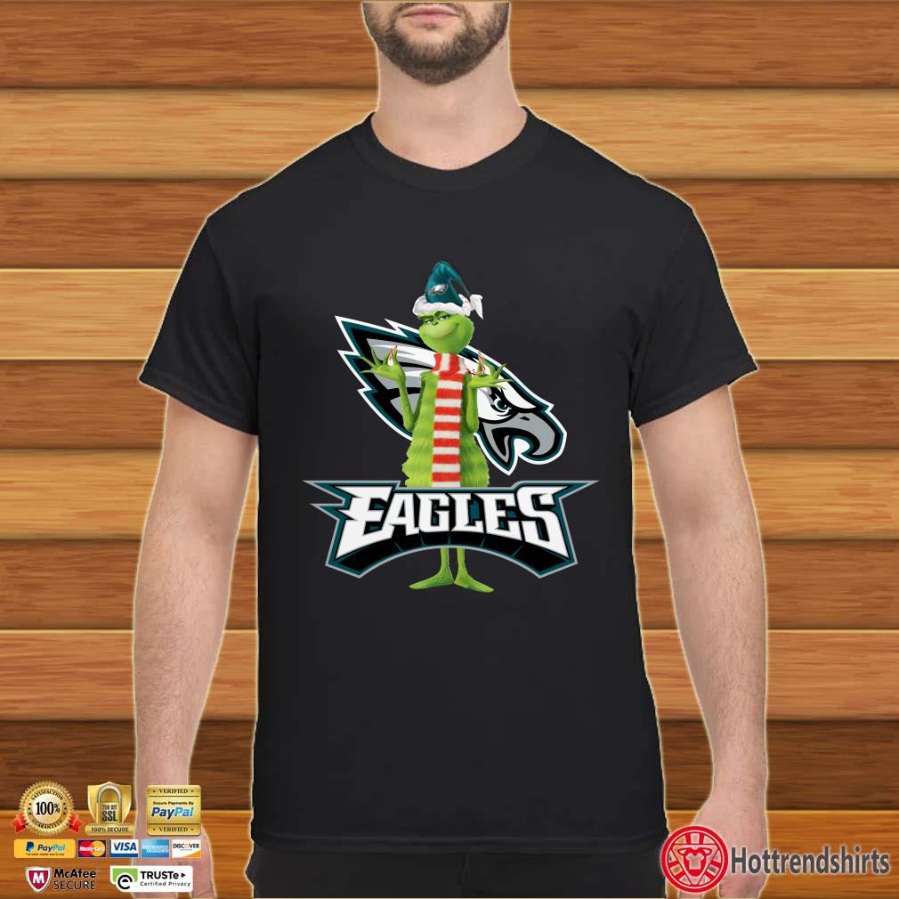 Santa Grinch Philadelphia Eagles Christmas Shirt