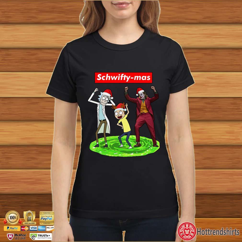 Schwifty-mas Rick and Morty Joker dancing Christmas shirt