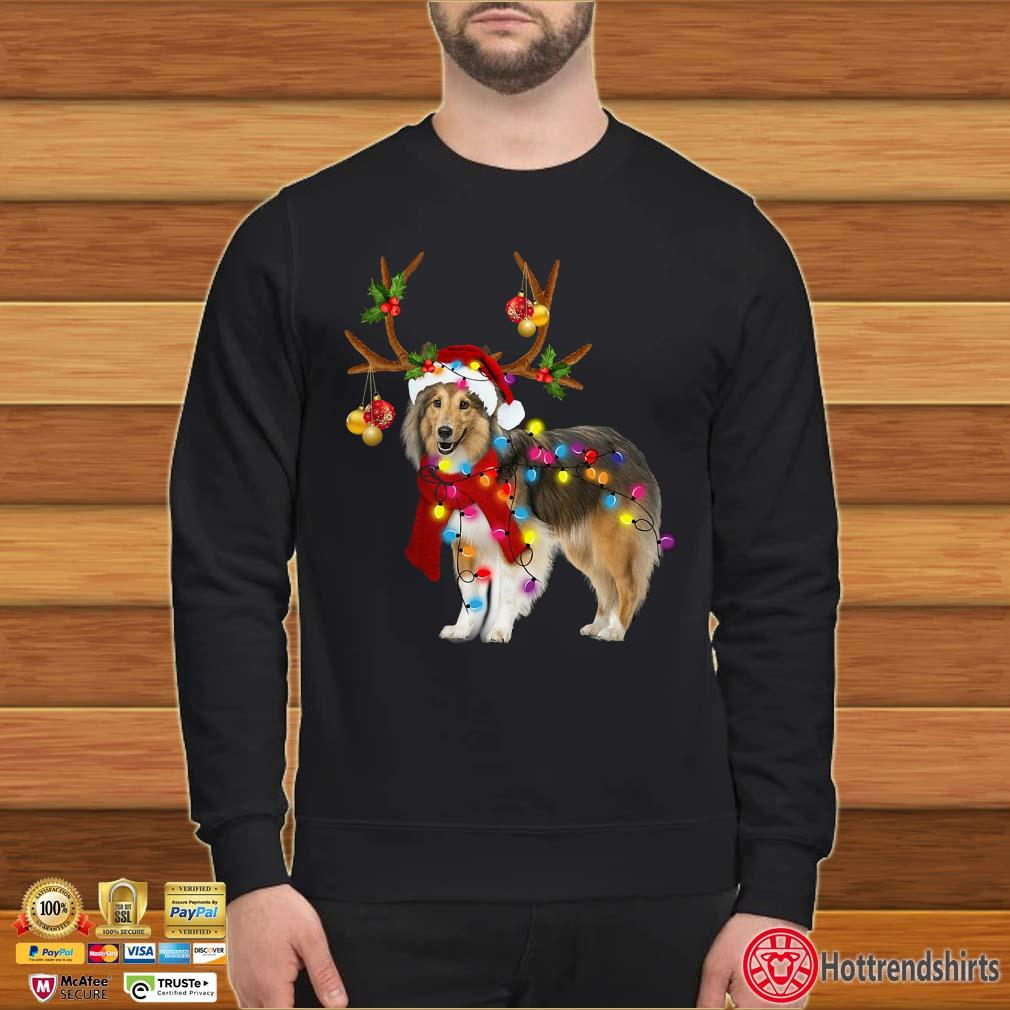 Sheltie gorgeous reindeer light Christmas Shirt