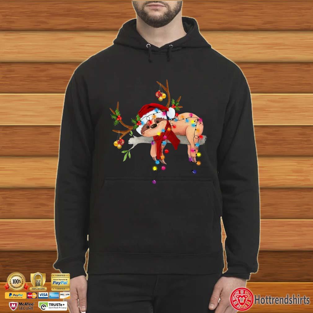 Sloth Reindeer Light Christmas Shirt