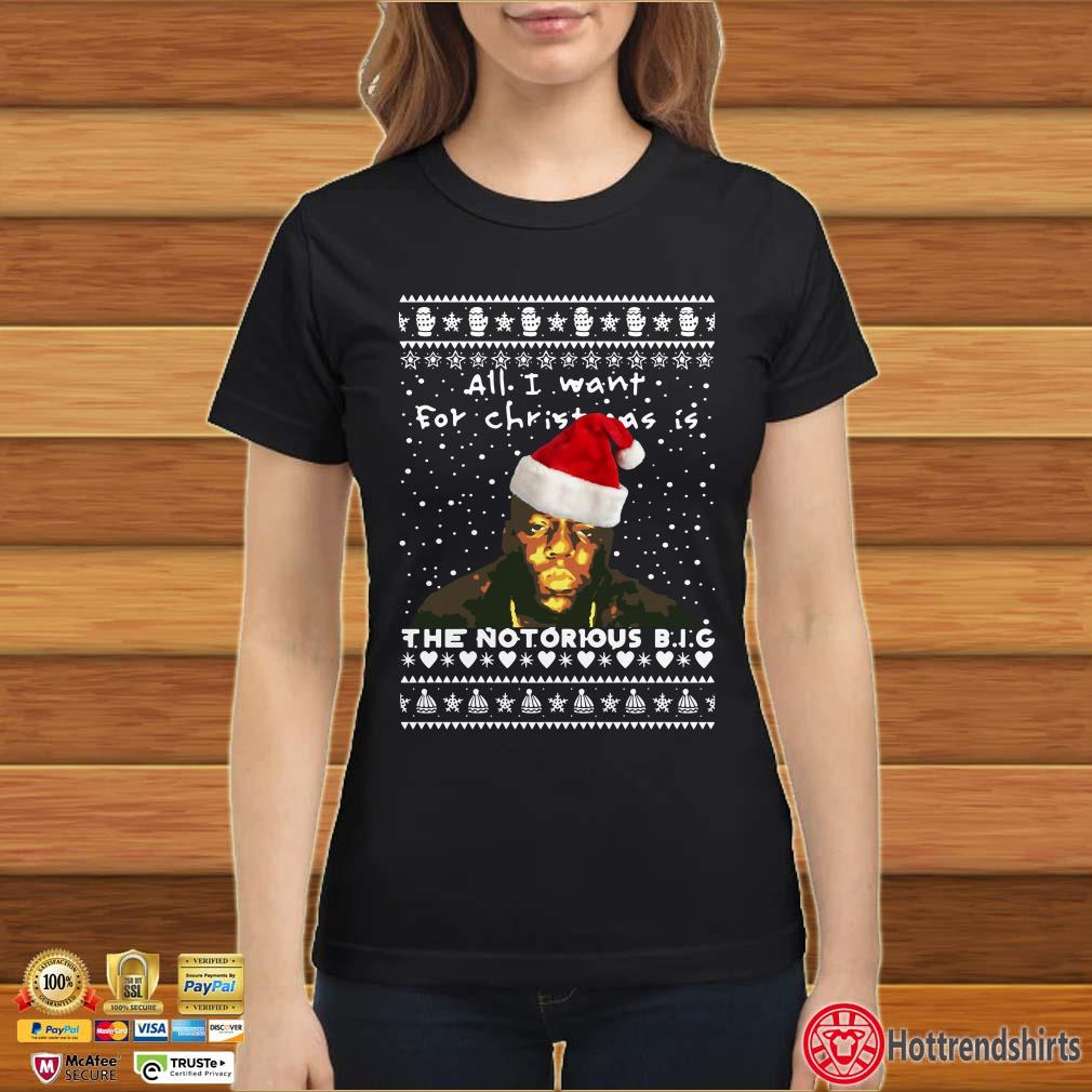 The Notorious B.I.G. All I Want For Christmas Is Ugly Christmas Shirt