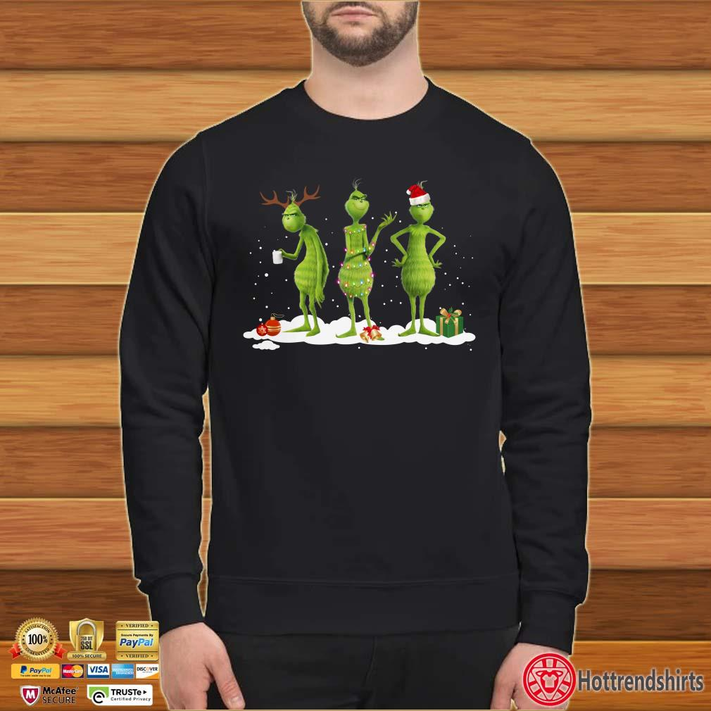Three Grinch Light Christmas Shirt