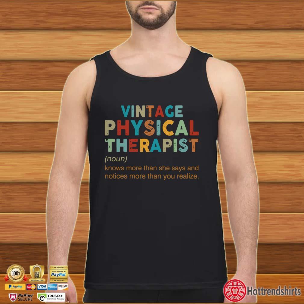 Vintage Physical Therapist Noun Shirt