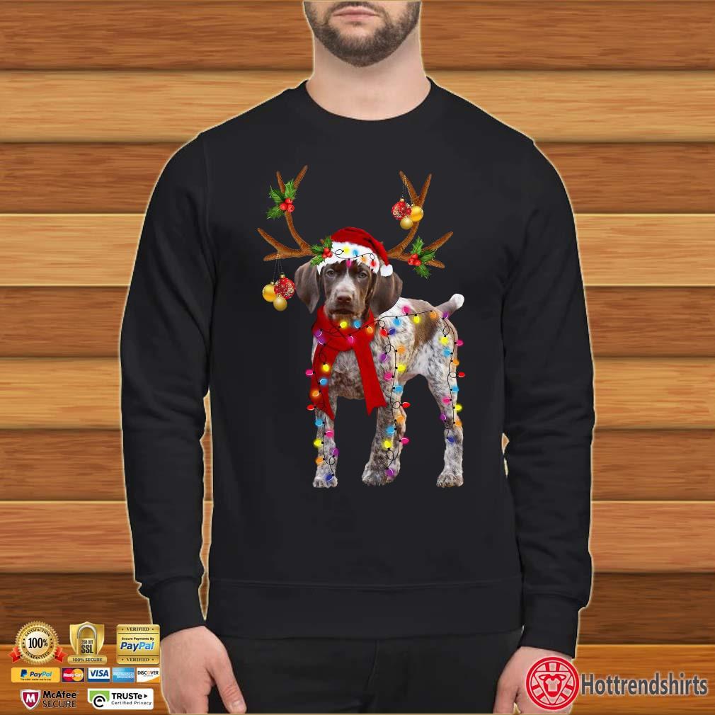 Weimaraner Gorgeous Reindeer Light Christmas Shirt