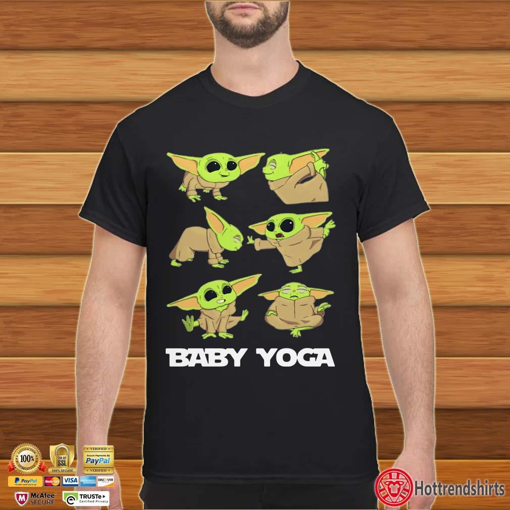 Baby Yoda Yoga The Mandalorian Shirt
